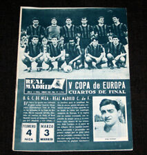 FOOTBALL FUSSBALL REAL MADRID OGC NICE V EUROPEAN CHAMPIONS CLUBS CUP 1960