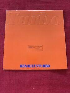 Renault 5 Turbo Original Vintage Brochure kit very good