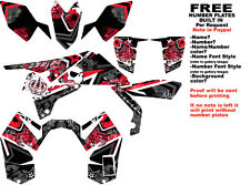 DFR SUBCULTURE GRAPHIC KIT BLACK/RED SIDES/FENDERS SUZUKI LTR450 LTR 450