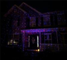 Rojo Azul Exterior Proyector Laser Foco Accesorio para Halloween Haunted House