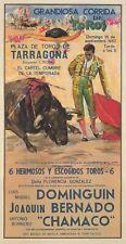 Original Vintage Poster Toros Dominguin Bullfight Spain 1957
