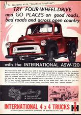"1958 INTERNATIONAL HARVESTER AD A2 CANVAS PRINT POSTER 23.4""x16.5"""