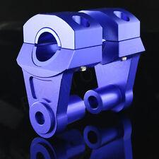 Handlebar Handle Fat Bar Mount Clamp Risers For Yamaha Super Tenere / Vmax BLUE