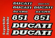 Ducati 851 Modello Verniciatura Kit Decalcomanie