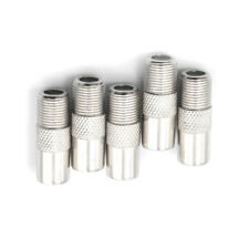 5Pcs F Type Female To TV Aerial RF Coaxial Male Connector Adapter Plug Pop XBZN