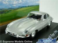 JAGUAR E TYPE COUPE MODEL CAR 1:43 SIZE 1961 GREY IXO ATLAS SERIES MYTHIQUES R01