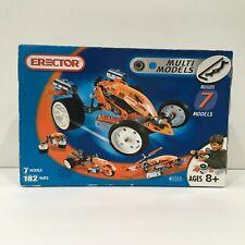 Erector Set #4505 Car Copter Cycle etc 182 Parts Makes 7 Models Building Set New