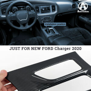 For Dodge Charger 2015-2020 Interior Front Console Gear Shifter Frame Cover Trim