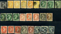 Canada #34/44 used 1870-1897 Queen Victoria Small Queen cancel & shades JUMBO