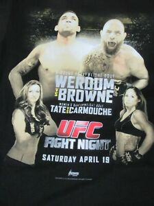 NWOT - UFC FIGHT NIGHT ORLANDO - WERDUM VS BROWNE - LARGE BLACK T-SHIRT - Y1816