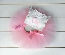 Light Pink 3 Piece First Birthday Outfit - Cake Smash Outfit