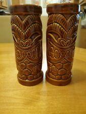 TIKI FARM California  KALIFORNIA KU 2003 Ceramic Mugs x2 * Drew Brophy bar retro