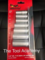 TENG TOOLS 8 PIECE 3/8 DRIVE DEEP SOCKET SET WITH RAIL 10mm > 19mm