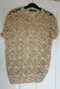 BNWT NORA  BEIGE METALLIC THREAD TOP SIZE M