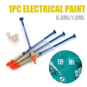 0.3/1ML Argent Conductrice Fil Câble Pâte Colle PCB Électronique Réparation