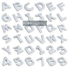 """LETTERA """" N """" adesiva cromo 3D adesivo cromato lettere scritta auto emblema ì00"""