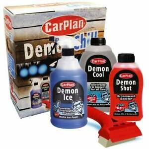 Carplan Demon Chill Car Kit  Screenwash Antifreeze Pre-icer and De-icer Squeegee