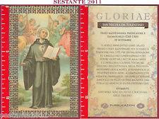 C33  SANTINO HOLY CARD S. SAN NICOLA DA TOLENTINO FRATE AGOSTINIANO 10 SETTEMBRE
