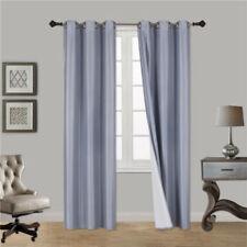 INSULATED FOAM LINED panel BLACKOUT GROMMET WINDOW CURTAIN 1PC SLATE BLUE