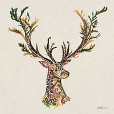 Helen Ahpornsiri - Forest Stag -Canvas READY TO HANG 40 x 40cm