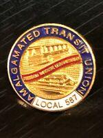 Vintage Collectible Amalgamated Transit Union Metal Colorful Pinback Lapel Pin