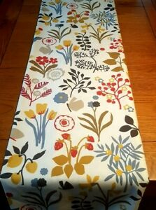 "NEW Table Runner 36"" 48"" 54"" 60"" 64"" 72"" Indigo Cranberry Floral Leaf Design"
