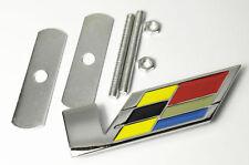 1Pcs Car Alloy Metal V Speed Front Grill Grilles Decoration Luxury Badge Emblems