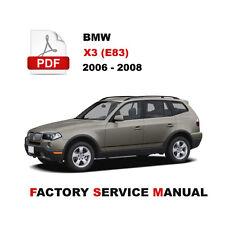 New listing 2006 2007 2008 Bmw X3 Service Repair Workshop Maintenance Manual