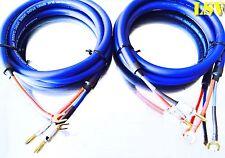 NEW Van Damme Blue Series Studio 2x2.5mm Speaker Cable 2x4m - Terminated
