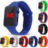 Fashion Unisex Digital LED Sports Watch Silicone Band Wrist Watches Men Children