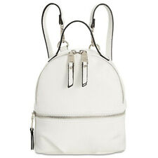 Steve Madden Womens Jacki Silver Faux Leather Backpack Purse Small BHFO 1036