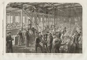 1862 ARMSTRONG GUN MANUFACTURE AT WOOLWICH ARSENAL THE BEEHIVE