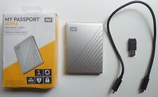 WD 1TB My Passport Ultra Silver Portable External HD, USB-C - WDBC3C0010BSL