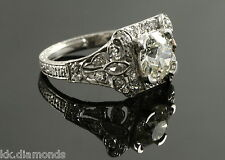 1.58 ct Round Brilliant cut off white Yellow moissanite Ring, 925 silver Ring BB