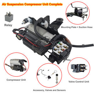 Kompressor Luftfederung + Ventilblock + Relais Für Audi A6 Allroad Avant C6 4F