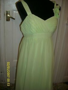 2 light lime green alfred angelo prom dresses/bridesmaid dresses usa 4 uk think