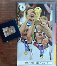 Seltene Gedenkmünze Weltmeister 2014 Silber (333/1000) Stempelglanz Fußball DFB