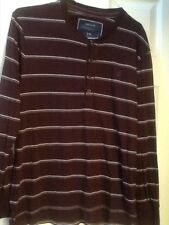 MENS AMERICAN EAGLE LONG SLEEVE STRIPED SHIRT SIZE L