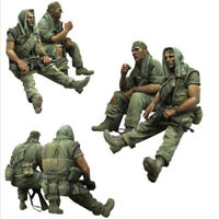 resin figures model garage kit 1:35 scale Vietnam war 2 US soldiers resting A41