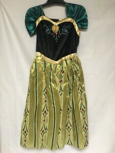 Disney Frozen Girls Size M Anna Coronation Gown Halloween Costume Dress Up