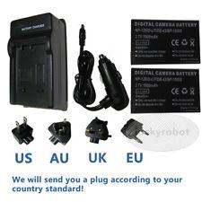 2X NP-120 Battery + Charger for DXG DXG-595V DXG595V DXG-587V DXG587V Camcorder