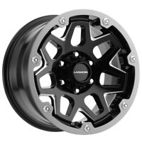 "4-Vision 416 Se7en 18x9 6x5.5"" +12mm Black/Milled/Gunmetal Wheels Rims 18"" Inch"