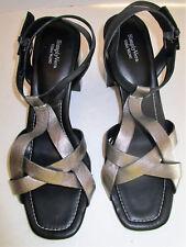 SIMPLY VERA WANG Women's Galore Silver & Black High Heel Strappy Sandals Sz 10M