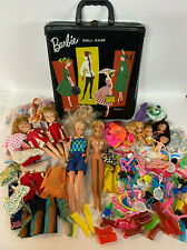 Huge Lot of Vintage 1960's Barbie Dolls Clothing Shoes Accessories In Case