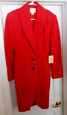 NEW Vintage KATHRYN DIANOS Coat Wool Cashmere Blend Red USA Women's 8 ORIG $610