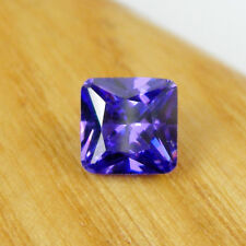 Square 7x7mm Emerald Cut Violet-Blue Cubic Zirconia 2.60 carats Loose Gemstone