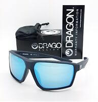 NEW DRAGON Tenzig sunglasses Matte Slate Blue Ion 035 Large AUTHENTIC Mirrored