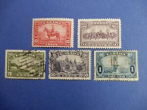 #223-227 (2 MH, 3 used)  a popular, valuable set of stamps    HCV