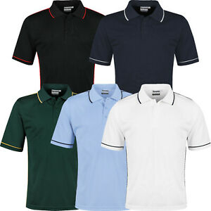 Mens Polo Shirts Short Sleeve Regular Fit Breathable Pique Work Casual Plain Top