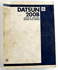 Datsun 200B factory workshop manual published Dec 1979